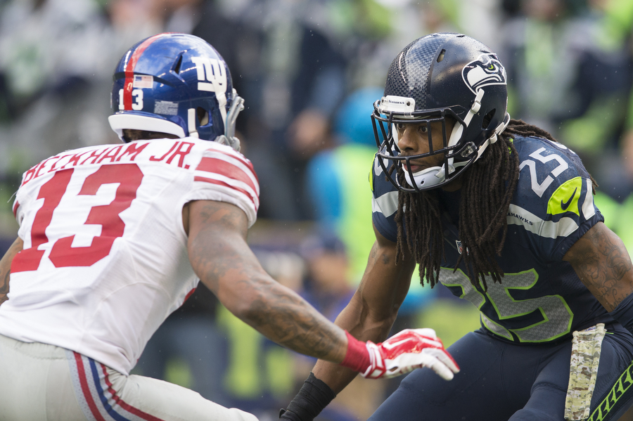 Scenes from the Seahawks v. Giants on Sunday, Nov. 9, 2014 at Century Link Field.