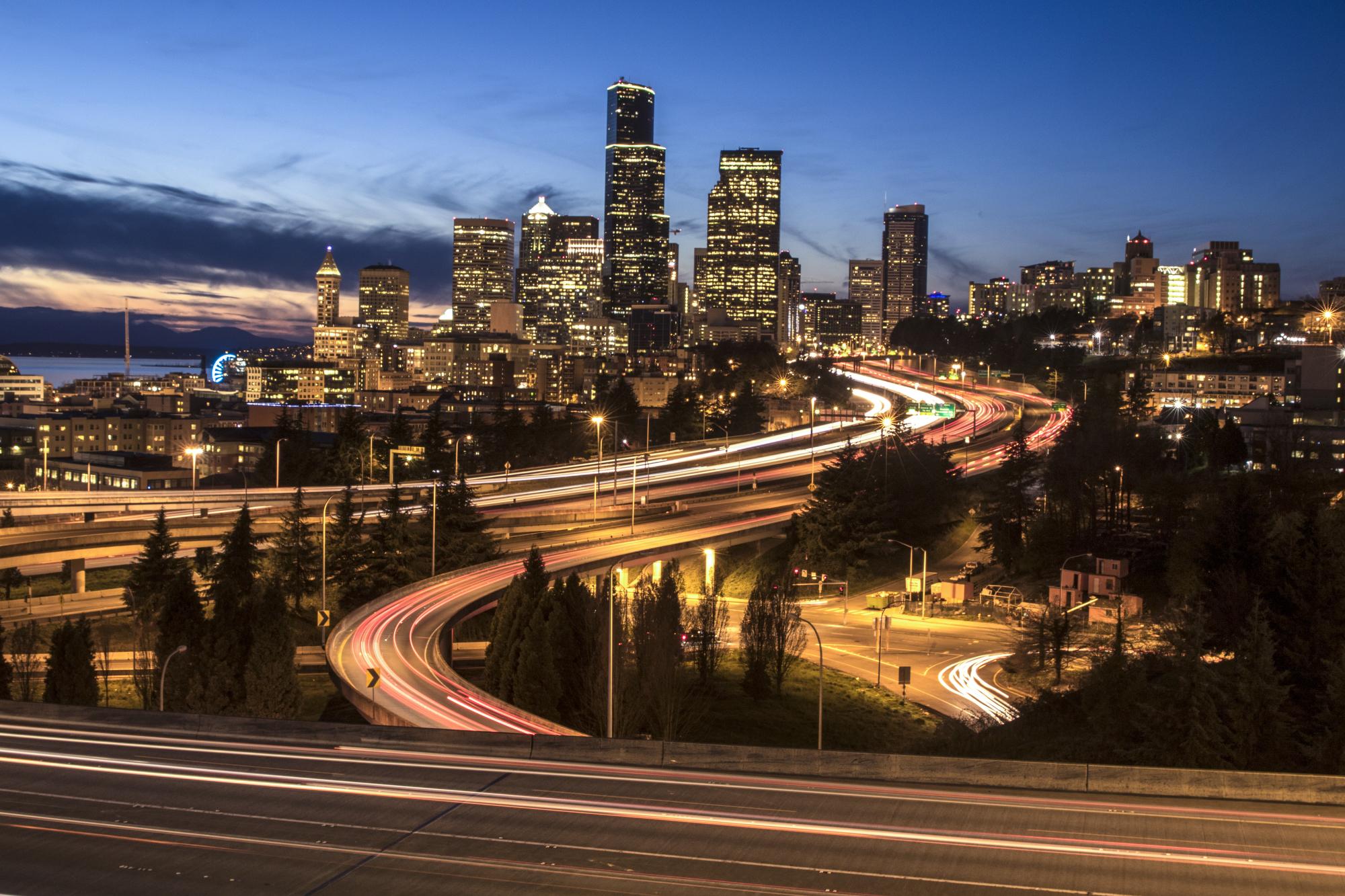 500px Photo ID: 153514225 - Seattle city lights on full display.